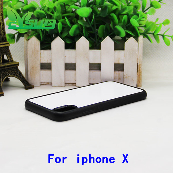 2D Sublimation Rubber tpu blank cases cover skin For iphone X 7 8 6s 5s mixed model with plates and glue Free shipping 1000pcs