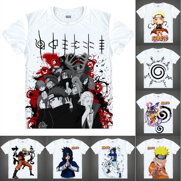 Anime Shirt Ninja NARUTO T-Shirts Multi-style Short Sleeve Naruto Uzumaki Sasuke Uchiha Cosplay Motivs Hentai Shirts