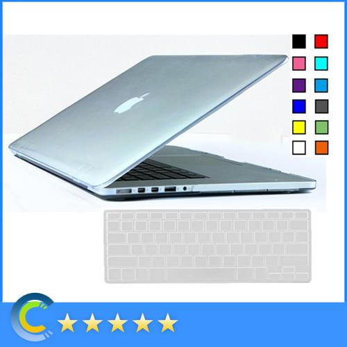 Transparent Clear Hard Case with Silicone keyboard Cover for New Mackbook 12 inch Retina for Macbook Air Pro Retina 11 13 15 Inch