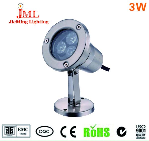 JML LED Подводное освещение 3W 12V 24V одноцветный RGB LED освещение IP68 водонепроницаемый бассейн UL