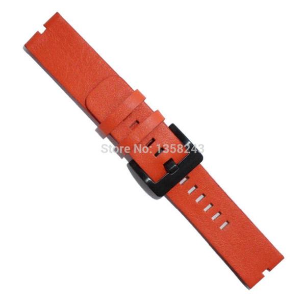 New Leather Watchband Watch Band Strap Bracelet for Motorola Moto 360 Smart Watch Bands Watchbands Moto 360(Orange)