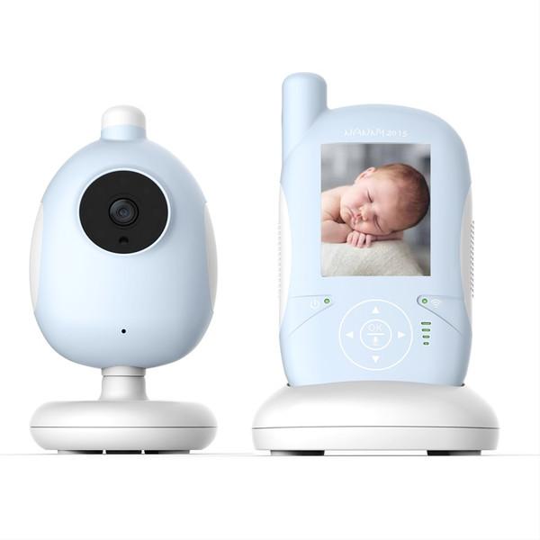 2.4 pouce vigilabebes bébé caméra IR vision nocturne berceuse Moniteur de température alimentation alarme 2 façons de parler bébé interphone vigila bebes