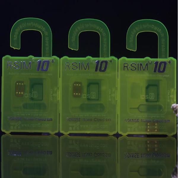 R-SIM 10+ Unlock Card per iPhone 6s RGKINSE R SIM 10+ IOS 9 IOS 8 Supporto Tutto SIM Card Pacchetto al dettaglio DHL OTH194