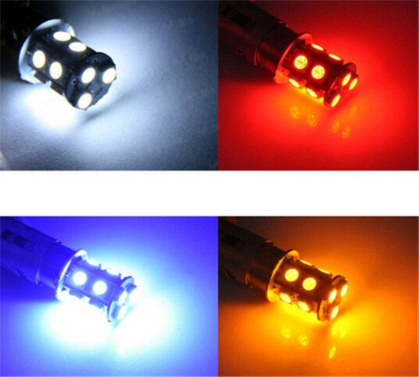 Hohe Qualität 1156 382 BA15S p21w 1157 BAY15D p21 / 5w bay15d PY21W led glühbirne 13 smd 5050 Bremse Schwanz Blinker Glühbirne Lampe 12 V rot
