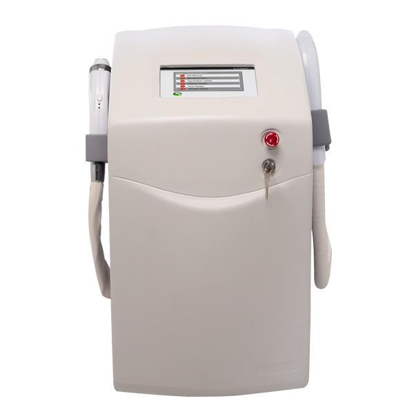 Professional Two Handles RF + Elight IPL Laser Hair Removal Machine E light Hair Removal IPL + RF With 3 Tips For Wrinkle Acne Removal