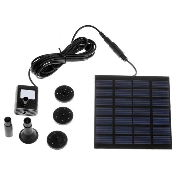 2017 Brushless DC Solar water Pump Power Fountain Panel Kit Fountain Pool Water Pump Garden Watering Free Shipping