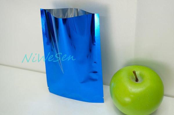 12x18cm, 200pcs x top open blue aluminum foil mylar Bags, coffee bean packing aluminizing pouch heat sealable/waterproof pocket