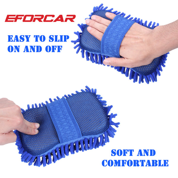 top popular Car Washing Sponge Glove Microfiber Chenille Sponge Washer Towel Duster Motorcycle Truck Cleaning Cloth Tool Home Window Desk Dust Cleaing 2020