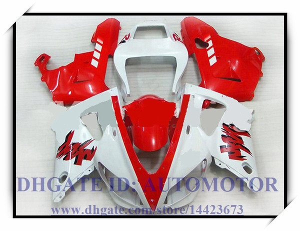 INJECTION BRAND NEW FAIRING KIT 100% FIT FOR YAMAHA YZF1000 YZF R1 1998-1999 YZFR1 1998 1999 YZF R1 98 99 #AK838 RED WHITE