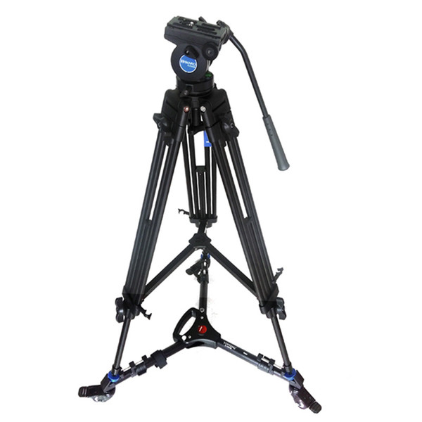 Pro Video Fluid Drag Tripod Benro KH25N + 3 Wheels Support Skater Dolly For Canon Sony Panasonic Camera Camcorder Free DHL