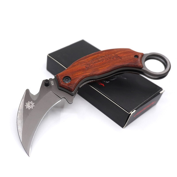 X52 New Karambit Folding Knives 5Cr13Mov Steel Folding Mantis Claw Knife Outdoor Gear Camping Survival Knife EDC Tool Free Shipping