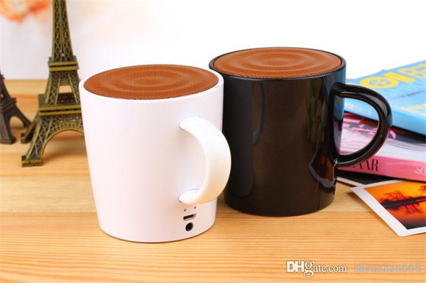 coffee cup speaker with voice record function mini Bluetooth speaker wireless hands free music player for smart votes hone Tablet 23W-YX