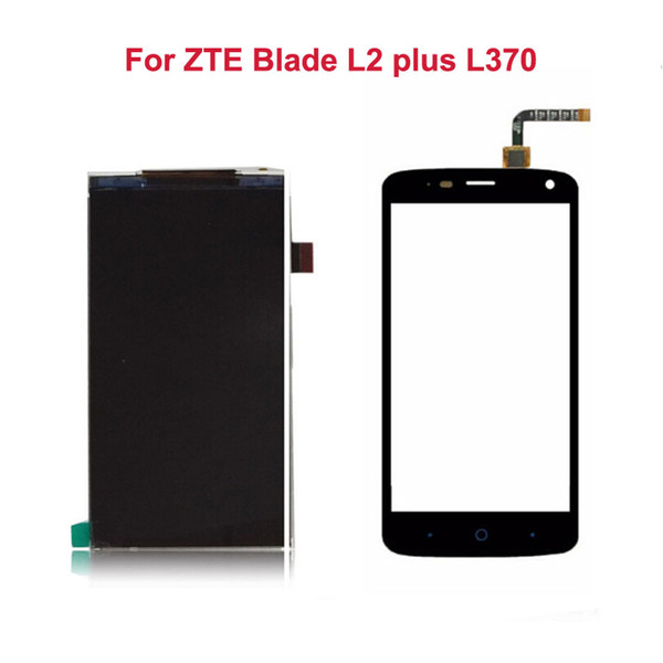 """Wholesale- For ZTE Blade L2 plus L370 Touch Screen 5""""+LCD Display Screen Digitizer Glass Sensor Panel Black White Smartphone Repairtment"""