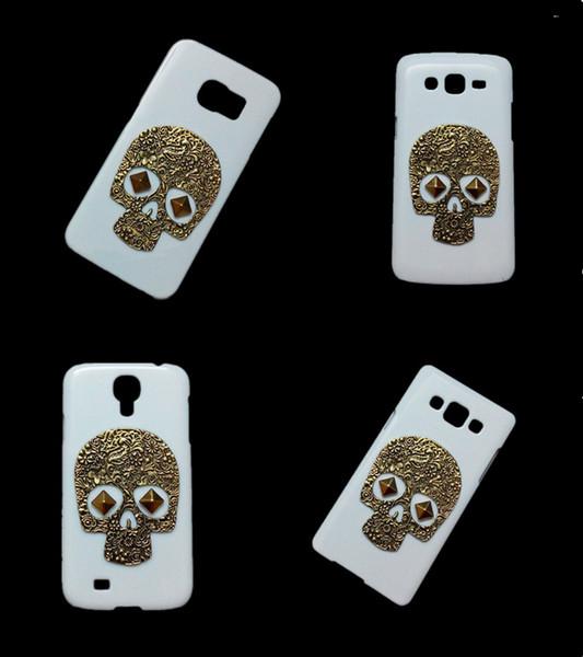 3D Vintage Retro Bronze Skull Skeleton Punk Rivet Stud Hard Back Cover Case for Samsung Galaxy S2 S3 S4 S5 S6 Edge Plus S6 Active S7 S7 Edge