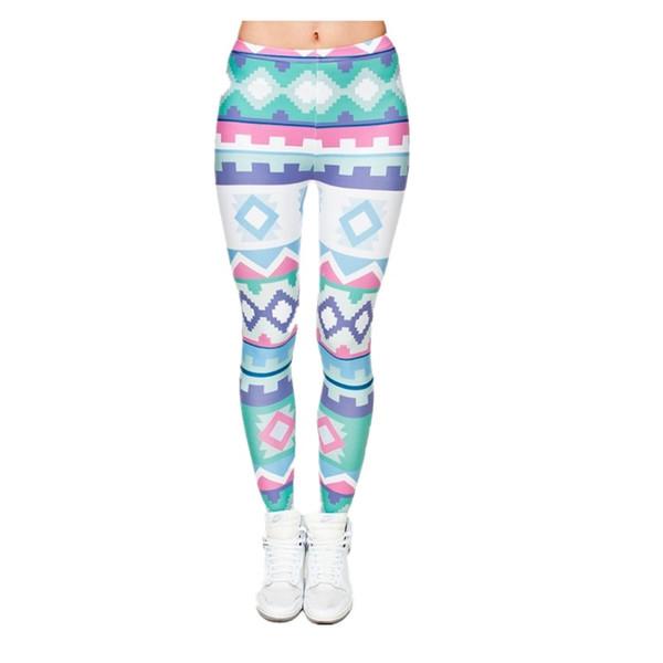 3D Pants For Sex Women Digital Full Print Cute Girl Stretchy Capris Casual Elastic Tight Slim Fit Bright Colorful Pencil Trousers PWDK5-10 W