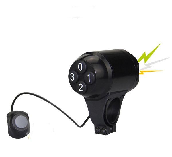 SUNDING SD-603 Waterproof Loud Cycling Electric Bicycle Horn Password Bike Handlebar Ring Bell Alarm Cyclist Accessories Speaker