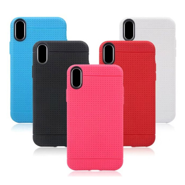For iPhone X 8 plus 7 Candy Color Case Cellphone Cover Shockproof Dirt-resistant TPU Cell Phone Protector with OPP Bag