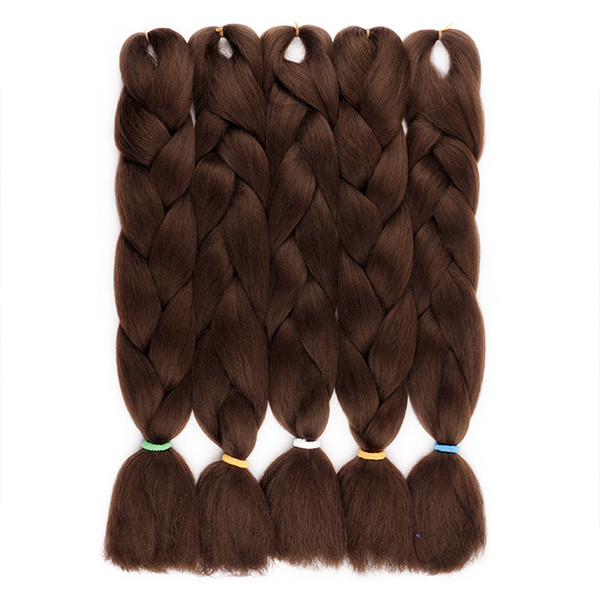 FASHION FREE SHIPING EASY Jumbo BRAIDS SYNTHETIC braiding hair synthetic two tone color JUMBO BRAIDS extension 24inch ombre box braids hair