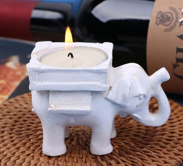 Kiste 5 Mini Keramik Elefant Kerzen
