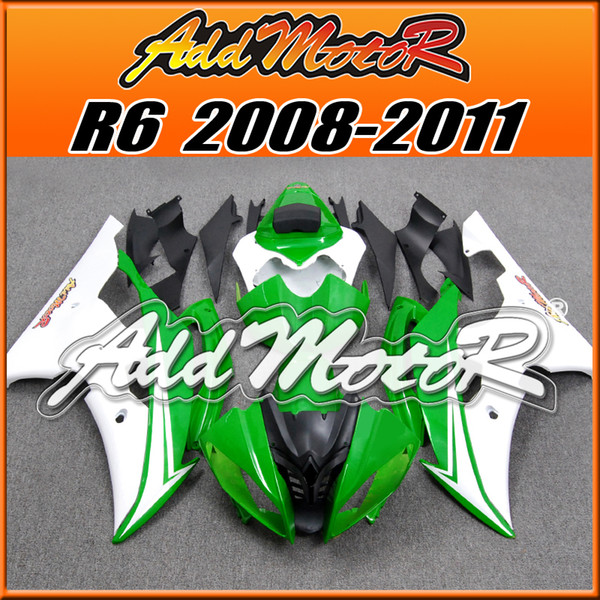 5 Free Gift!! Addmotor Hot-Sell New Goods Injection Mold Plastic Fairings Kit For Yamaha YZF-R1 2008-2016 Body Kit Green White Y6887