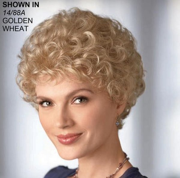 Cheap Short Kinky Curly Wig African American