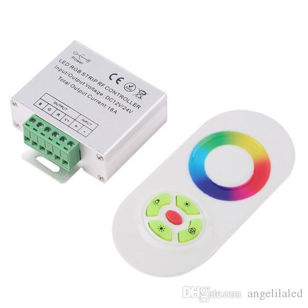 12 V / 24 V Controladores RGB Sem Fio RF RGB Led Strip Light Touch Dimmer Controlador Remotamente, Controle Remoto para RGB LED de iluminação
