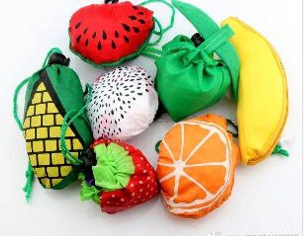 top popular Cute Useful Fruit Watermelon Pitaya Foldable Eco Reusable Shopping Bags 39cm x37cm 2019