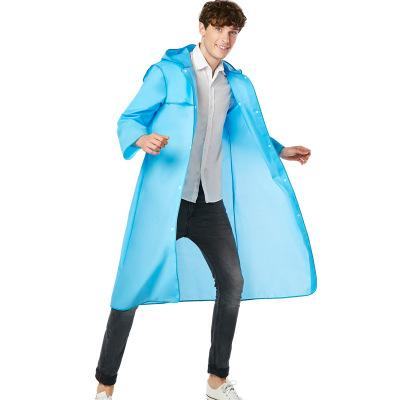Transparency Fashion Raincoats Bordered Long Raincoats Outdoors Pedestrianism Climb Travel Raincoats Six Color for Man and Woman