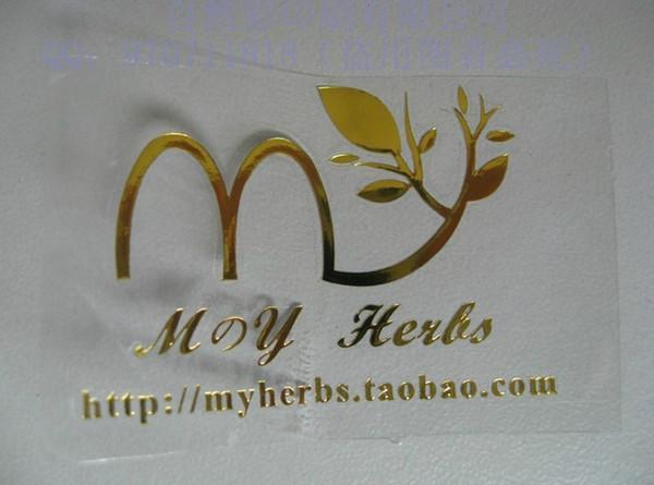 Customized logo print clear pvc label gold or silver foil sticker transparent pvc label printing