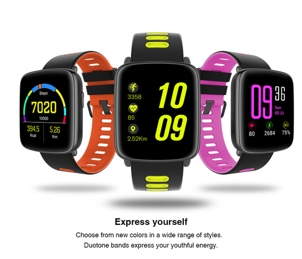 Willvast gv68 smart watch homens mulheres ip68 à prova d 'água mtk2502 smartwatch wearable dispositivo de teste de freqüência cardíaca para iphone android