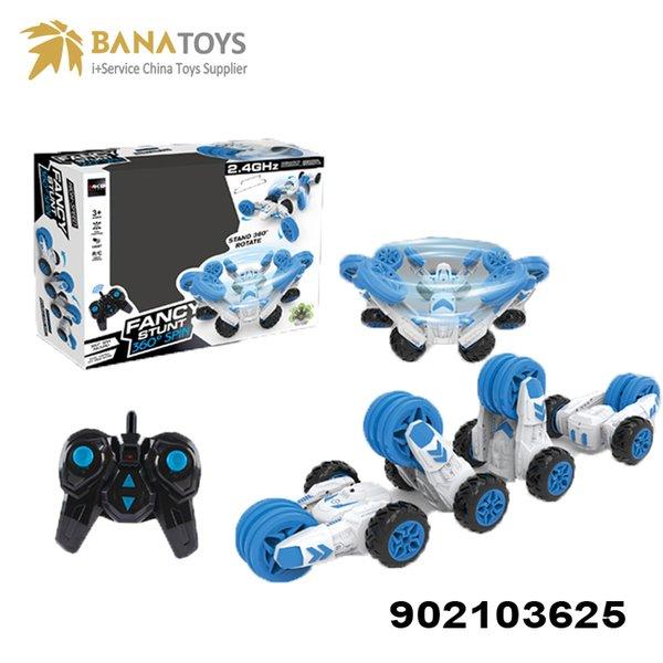 Boy speed stunt toys rc car three wheeled electric stunt car 360 degrees toy radio control toy Free Shipping