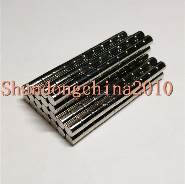 Wholesale - In Stock 500pcs Strong Round NdFeB Magnets Dia 4x5mm N35 Rare Earth Neodymium Permanent Craft/DIY Magnet Free shipping