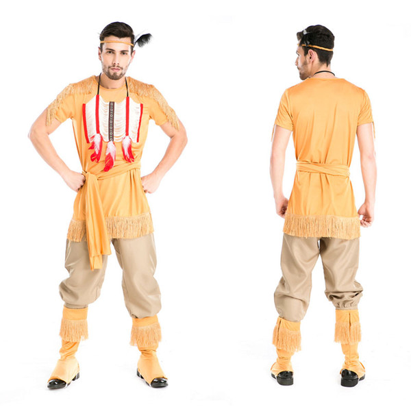 halloween costume uniforms temptation sexy men native american indian wild west fancy dress party costume hunter
