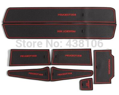 Free shipping Peugeot 508 anti slip mat sticker, gate slot pad,door mats,carpets,Interior Door Cup Holder,,Car styling