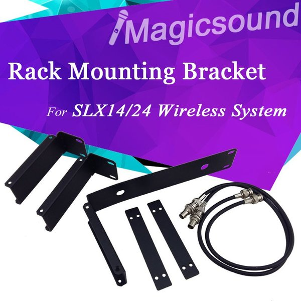 Top Quality !! Rack Mounting Bracket Antenna Extension Cable Rack Kits For SLX Wireless Receiver SLX14 SLX24 Wireless Microphone