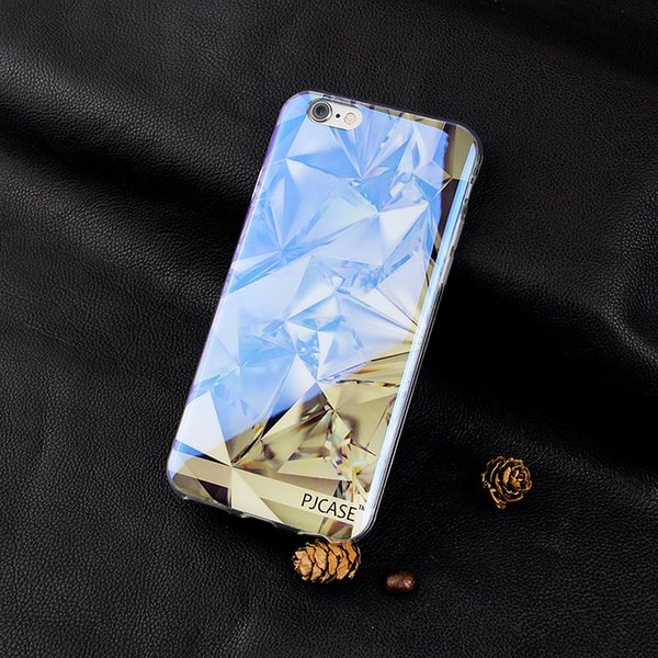 50pcs wholesale Modern Blue Ray Light Clear Mobile Phone Case for iPhone7 4.7inch for iphone 7Plus 5.5inch Funny Pattern Transparent Cover