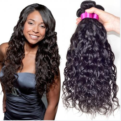 8A High Quality Indian Natural Wave Unprocessed Human Hair Extensions 8-30inch Natural Black Color Thick Dyeable 4pcs/lot Free Shipping DHL