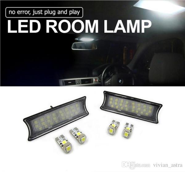 1Pair Surper Bright Interior LED Automobiles Car Interior Lights Dome Roof Light Lamps For BMW E60/65/87 Error Free
