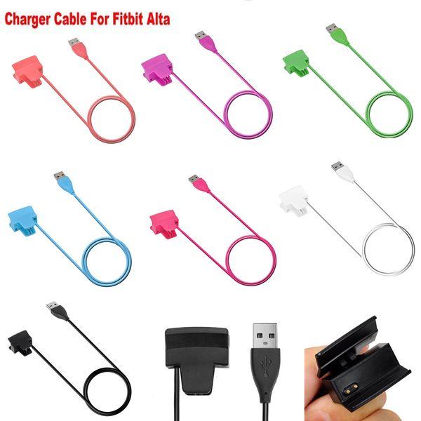 Fitbit Alta Charger Color USB-Ladegerät Ersatzladegerät Ladekabel für Fitbit Alta Smart Fitness Tracker 30 cm Keine Reset-Funktion