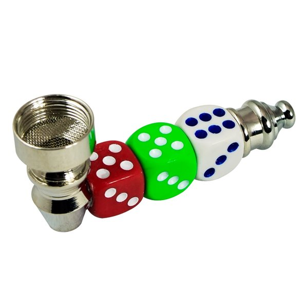 Dice Straight Design Smoking Pipe Hand Pipe Free Shipping