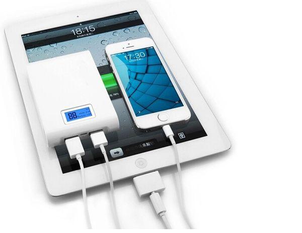portable LCD 12000mah power bank, free millet apple1 samsung2 tablet USB charging, LED flashlight, 18560 battery storage