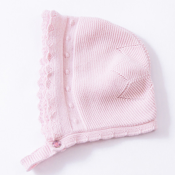 Wholesale 2016 Pink Cute Baby Hat Soft Cotton Crochet Baby Beanies Kids  Fall Winter Hat Baby 7ecbfe62a3f