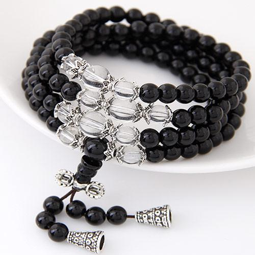 High End Hot Bohemia Costume Jewelry Beads Balsl Crystal Tassel Wrist Accessories Elastic Charn Wrap Multilayer Bracelets Bangles For Women