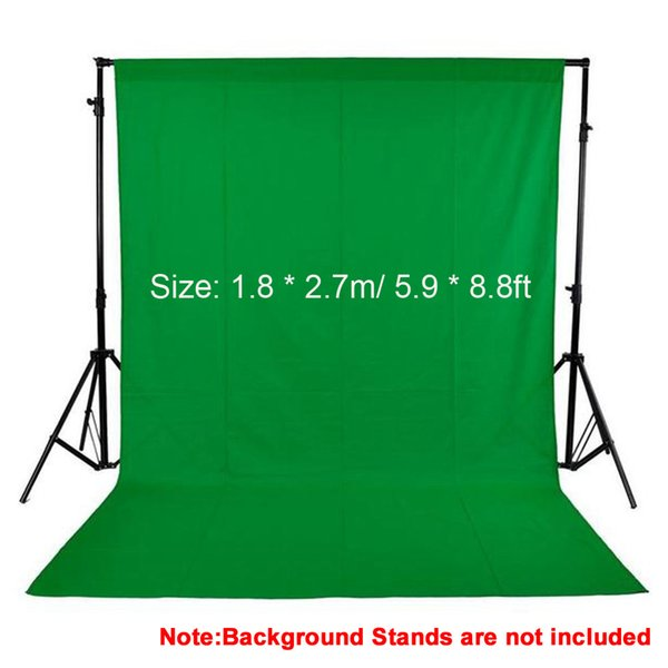 1.8*2.7m/5.9*8.8ft Photo Background Photography Backdrops Backgrounds Studio Video Nonwoven Fabric Green Screen Black White
