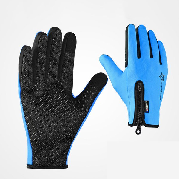 4 Colors Bike Gloves Winter Thermal Windproof Warm Full Finger Touch Screen Cycling Glove Anti-slip Bike Bicycle Gloves Man Woman DHL
