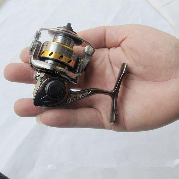 MN100 Fishing Reel World's Smallest Full Metal Mini Ice Shore Ralfting Lure Winter Pen Rod Spinning Reel