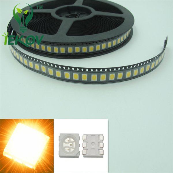 High Quality 5000pcs PLCC-6 5050 SMD Yellow led Super Bright Light Diode 1.8-2.1V For Bike DIY SMD/SMT Chip lamp beads