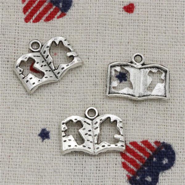 217pcs Charms dove cross book 13*17mm Pendant,Vintage Tibetan Silver,For DIY Necklace & Bracelets Jewelry Accessories