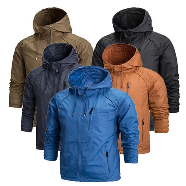 Wholesale-Plus Size 4XL brand waterproof outdoor jacket fishing softshell jacket men Breathable camping hiking rain jackets windstopper