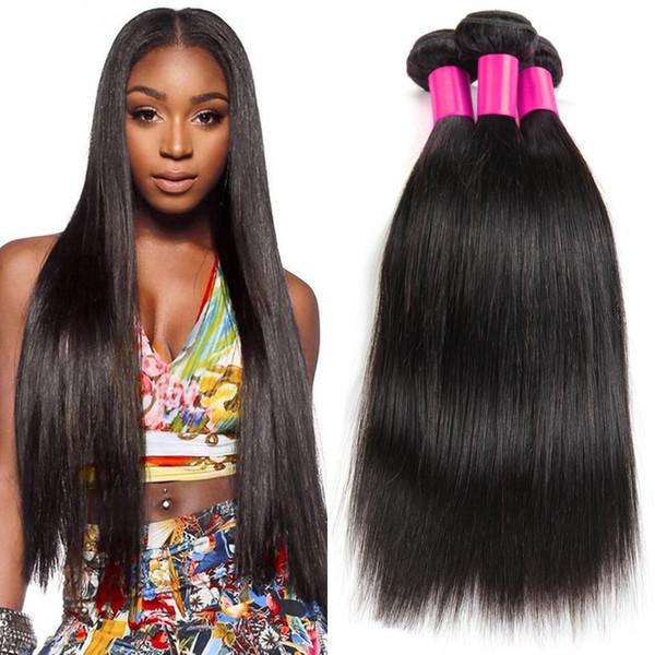 Best hair products brazilian virgin hair straight,7A Unprocessed brazilian straight hair extension human hair weave 3 Bundle Cheap Hair